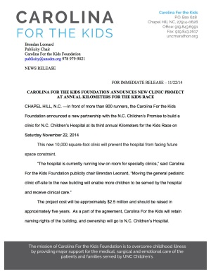 CFTK Clinic Press Release
